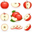 Red apple — Stock Vector