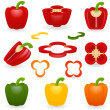 Vector de stock : Icon set Pepper
