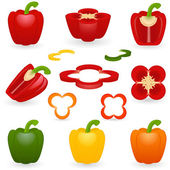 Icon set Pepper — Stock Vector