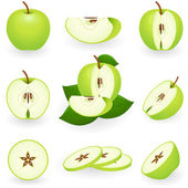 Green apple — Stock Vector