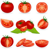 Icon set Tomato — Stock Vector