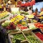 Fruits market, in La Boqueria, market Barcelona — Stock Photo #12798982