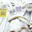 Stock Photo: Dried salted cod and other fish in market