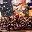 Stock Photo: Cherries exposed in market Barcelona