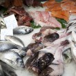 Stock Photo: Fresh fishes in a market