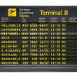 Stock Photo: Barceloninternational airport departures board