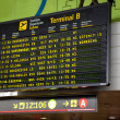 Barcelona international airport departures board — Stock Photo