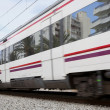 High-speed train with motion blur - Stock Photo