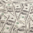 Background with money american hundred dollar bills — Stock Photo