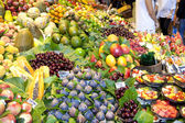 Fruits market, in La Boqueria, market Barcelona — Stock Photo