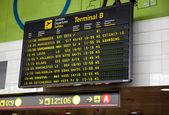Barcelona international airport departures board — Stock Photo