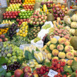 Fruits market, in La Boqueria, market Barcelona - Stock Photo