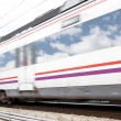 High-speed train with motion blur — Stock Photo