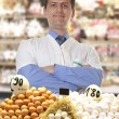 Royalty-Free Stock Photo: Farmer sells eggs