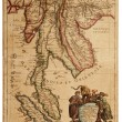 Old map (1683) — Stock Photo