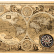 Old map (1626) — Stock Photo