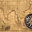 Old map (1687) — Stock Photo