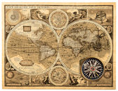 Old map (1626) — Foto de Stock
