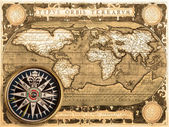 Old map (1587) — Stock Photo