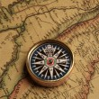 Royalty-Free Stock Photo: Vintage compass and old map