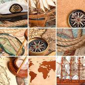 Marine collage — Stock Photo
