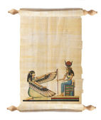 Scroll with Egyptian papyrus — Stock Photo