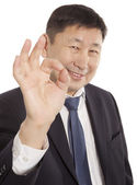 Business man with ok hand — Stock Photo