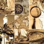 Mariene collage — Stockfoto