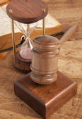 Wooden gavel — Stock Photo