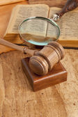 Gavel and book — Stock Photo