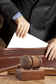 Advogado no tribunal — Foto Stock