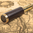Vintage brass telescope — Stock Photo
