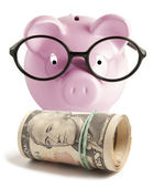 Piggy bank isolated — Stock Photo