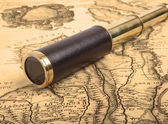 Vintage brass telescope — Photo