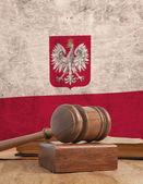 Polen flagga — Stockfoto