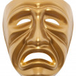 Tragedy theatrical mask isolated — Stock Photo #21710413