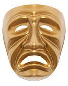 Máscara teatral tragedia aislada — Foto de Stock
