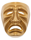 Tragedy theatrical mask isolated — Stock Photo