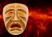 Tragedy theatrical mask — Stock Photo