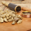 Gold nuggets — Stock Photo