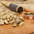 Gold nuggets — Stock Photo #22547337