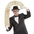 Magician businessman — Stock Photo