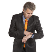 Businessman and time — Stock Photo