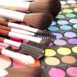 Makeup eye shadows — Stock Photo