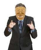 Businessman with mask — Stock Photo