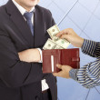 Stock Photo: Giving bribe