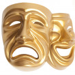 Theatrical mask isolated — Stock Photo