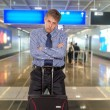 Businessman at the airport — Stock Photo