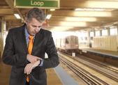 Trein vertraging — Stockfoto