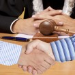 Stock Photo: Settlement agreement